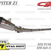 Knalpot CLD Racing Jupiter Z1 Type C7 Standar Tune Up S / D 150cc Doff