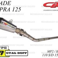 Knalpot CLD Racing Blade/Supra 125 Type C7 MP2/IP2 110cc~150cc Doff