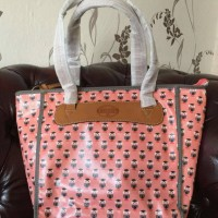 Tas FOSSIL Key Per Shopper Pink Owl, NWT