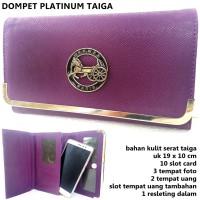 dompet wanita kulit serat h platinum ungu