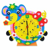 Jam Sticker EVA DIY Gambar Gajah