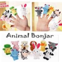 Mainan anak bayi balita boneka jari seri hewan animal finger doll 10bj
