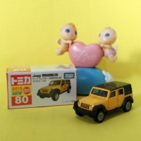Tomica Reguler 80 Jeep Wrangler Special Color Yellow