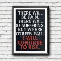 Jual Poster Quote Inspiratif - ...I will Continue to Rise - Hiasan dinding Murah