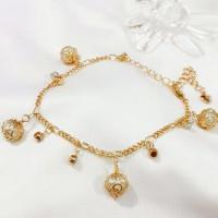 Bangles-Gelang-Perhiasaan Berlapis Emas 18K-Bola Lampion-Import-XUPING