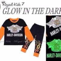 Royal Kids Harley Davison Orange Baju Anak Cowok Piyama Hitam Sale