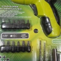Mesin Bor Chas / Rechargeable / Baterai / Cordless Screw Driver Prescott