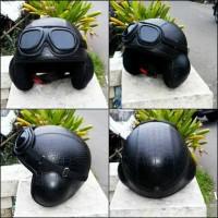 helm retro vespa termurah model pilot  motif ular