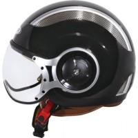 harga Helm Zeus 218 Retro Pilot Half Face Black Tokopedia.com