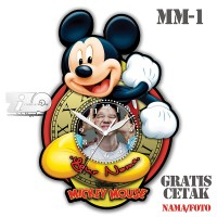 Jam Dinding Micky Mouse Favorit Anak - Tizo Ironman Clock . MM-1/1a