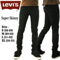Jual Celana Jeans Pria Levis Model Skinny (Model Pensil) Hitam Murah