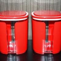 window canister merah tupperware