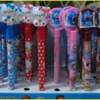 Pulpen Karakter Hello Kitty dan Doraemon