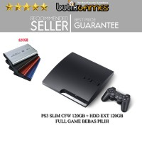SONY PS3 SLIM CFW 120 GB + Harddisk Ext 120GB Full Game