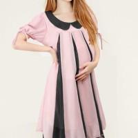 harga Baju Hamil Maternity Ruffle Tone Dress Tokopedia.com