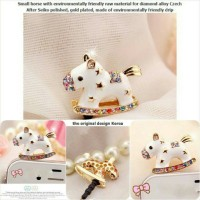 Korean Horse Jewelry Pluggy / dustplug / Gantungan Handphone / Earplug