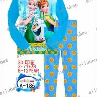 Baju Anak Piyama Import Ailubee Frozen
