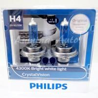 Jual Philips Crystal Vision H4 60/55W - Lampu mobil halogen putih 4300K Murah