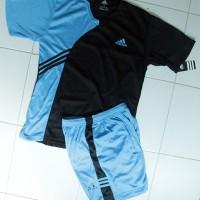Harga baju setelan adidas bars hitam birumuda olahraga kaos jersey | antitipu.com