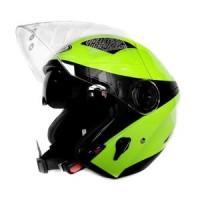 Helm Zeus 610 Nolan Flou Half Face Yellow