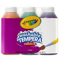 Crayola 3 Ct 8-Ounce Artista II Washable Tempera Secondary Color