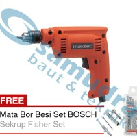 MAKTEC MT 60 Mesin Bor 10 Mm + Mata Bor Besi Set BOSCH 5 Pcs