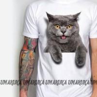 harga kaos 3D umakuka - kucing bengal Tokopedia.com