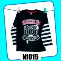 Baju / Kaos Muslim Anak Nf015 (Size XL)