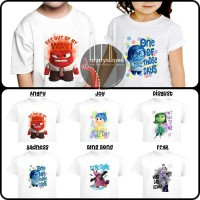 Kaos Anak Inside Out Angry Joy Sadnees Disgust Fear Bing Bong TYN 319