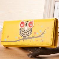 Harga HO3570G   Dompet Fashion Model Burung Hantu Owl Kuning  | WIKIPRICE INDONESIA