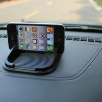 Dashmat holder Tatakan Handphone Dashboard Mobil Anti Slip Hitam