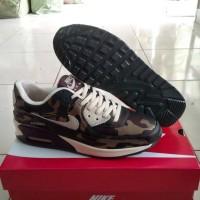 Murah Sepatu Nike Air Max 90 Camo Army Men, Hijau Cream.