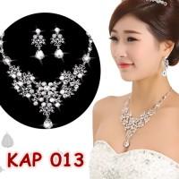 Jual Kalung Anting Pengantin Wanita l Aksesoris Perhiasan Wedding -KAP013 Murah