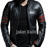 Jaket/Blazer Kulit Asli Pria Wolverine Red/Jaket super hero