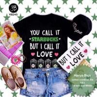 Harga Kaos Tee t shirt Fashion Kaos Love Starbucks | WIKIPRICE INDONESIA