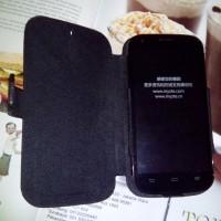harga Leather Flip Case ZTE BLADE A5 V9820 4G / Bolt Kulit Sapi Black Teflon Tokopedia.com