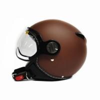 harga Helm Zeus 210 Brown Doff Solid Retro Import Half Face Tokopedia.com
