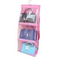 Pocket Hanging Storage Bag 6 Slot / Laci Tas - Pink