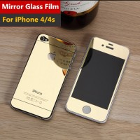 Jual Tempered Glass Case/Cover & Screen Protector Iphone 4/4s Mirror Model Murah