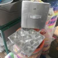 harga Cetakan Kue Lumpur/kue Apem/martabak Mini Isi 9 Alumunium Plus Tutup Tokopedia.com