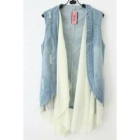 harga vest layer jeans/ rompi jeans/ bolero/hijabers/ grosir Tokopedia.com