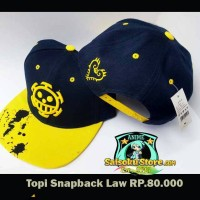 harga Topi snapback anime trafalgar law one piece Tokopedia.com