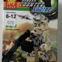 Lego Minifig Counter Strike Machine Gunner Lele