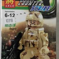 Lego Minifig Counter Strike Sniper Lele