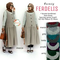 SUPPLIER HIJAB REALPICT : tunik ferdelis by hana