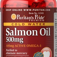 Puritan Pride Omega-3 Salmon Oil 500 mg - 100 Softgels