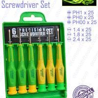 6Pcs Precision Screwdriver Set / Obeng Mini Set TEKIRO