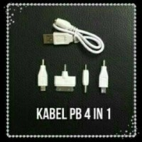 Kabel Charger Powerbank 4 Conector / Kabel Casan 4in1