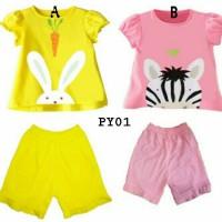 Piyama Anak Bunny Zebra / Setelan Baju Tidur Anak