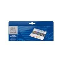 COTMAN Water Colours Blue Box 12 Half Pans